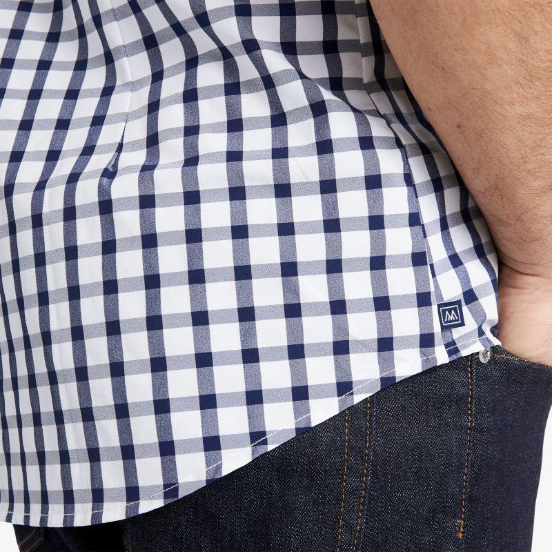 Leeward Short Sleeve - Navy Large Check, lifestyle/model