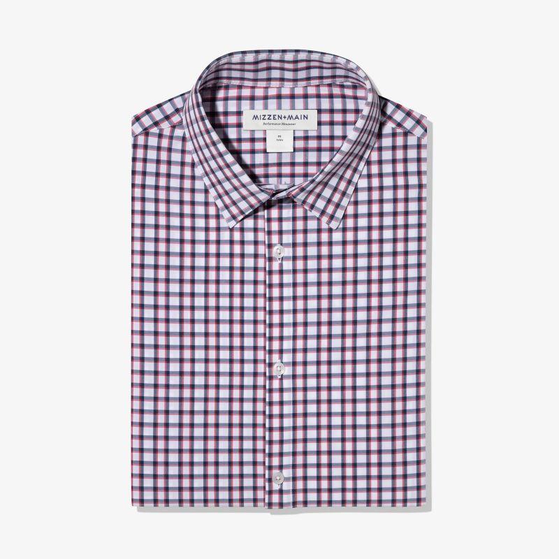 Leeward Dress Shirt - Navy Red Check, featured product shot