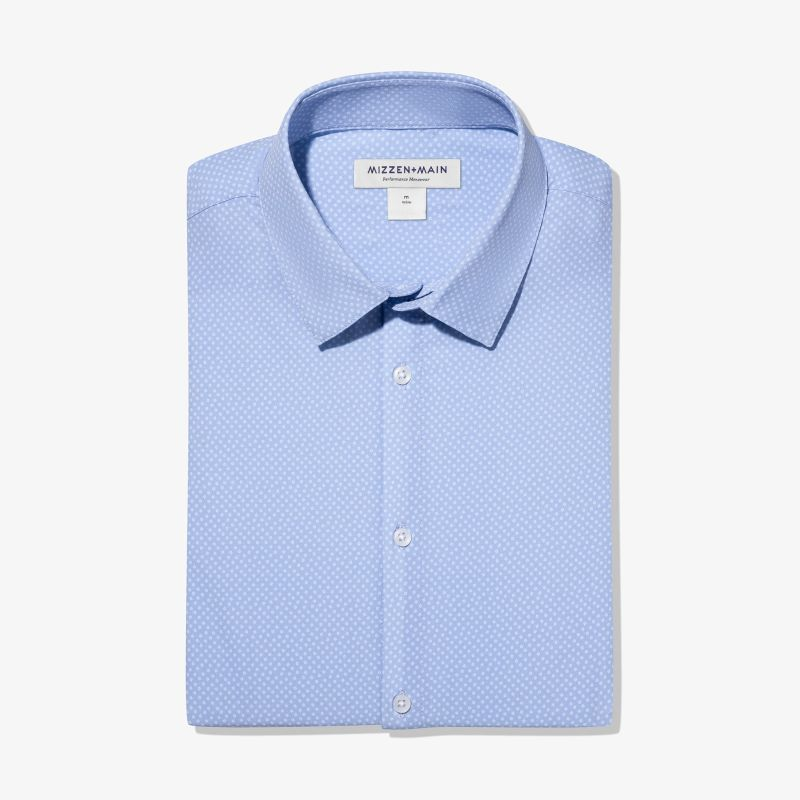 Leeward Dress Shirt - Light Blue SquarePrint, featured product shot