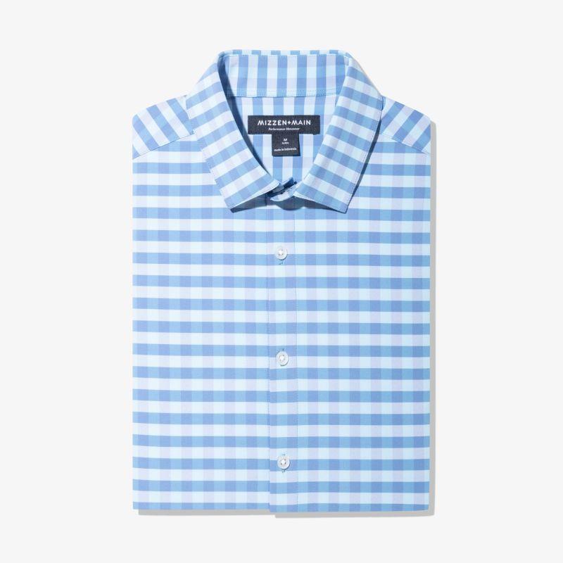 Lightweight Leeward Dress Shirt - Blue Gingham, featured product shot