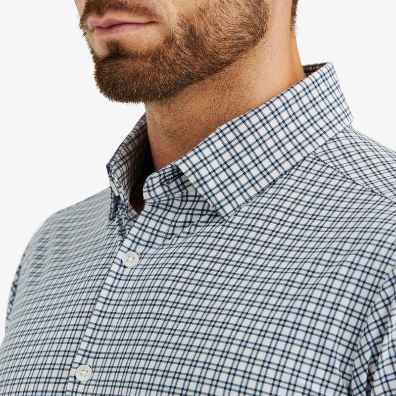 Lightweight Leeward Dress Shirt - Light Blue Check, lifestyle/model