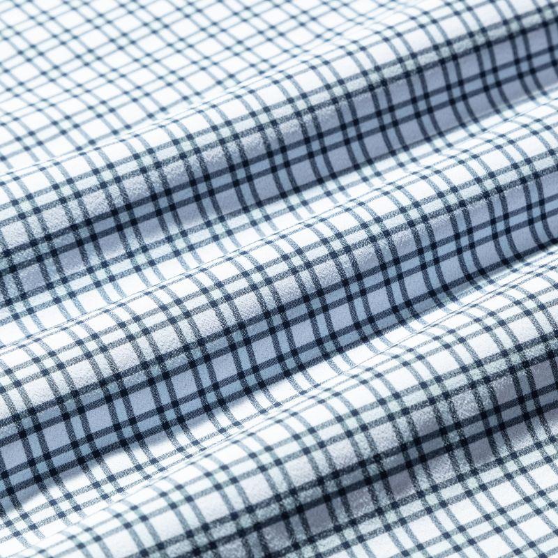 Lightweight Leeward Dress Shirt - Light Blue Check, fabric swatch closeup