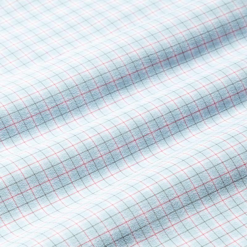 Lightweight Leeward Dress Shirt - Navy Red MiniCheck, fabric swatch closeup