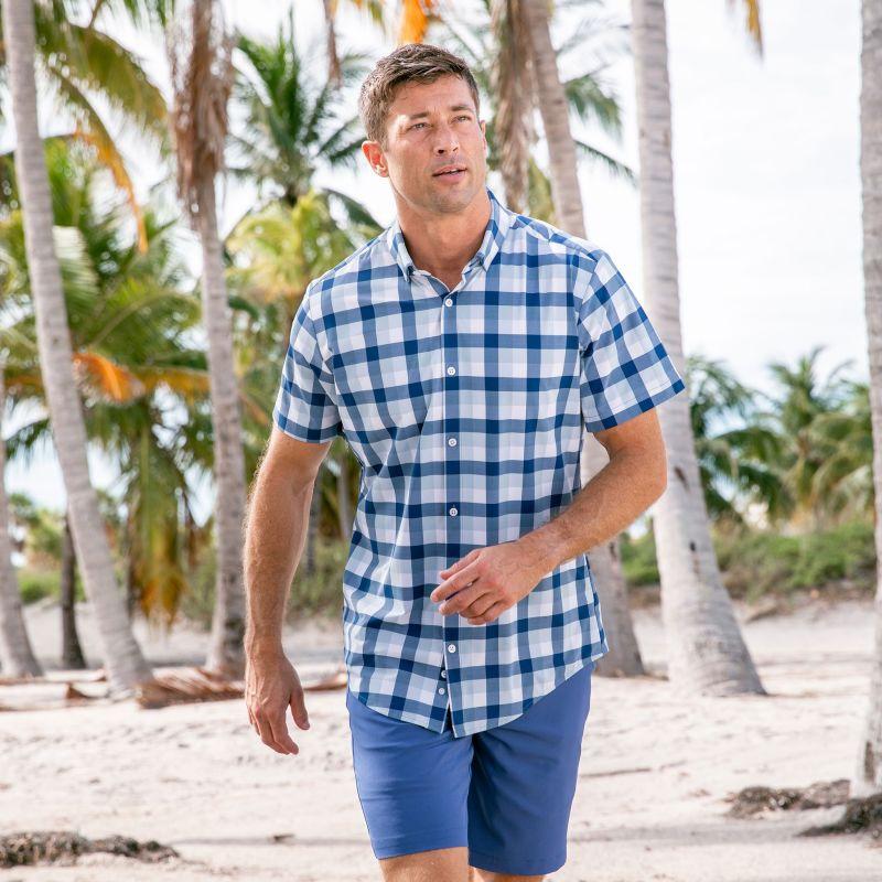 Lightweight Leeward Short Sleeve - Blue Large MultiCheck, lifestyle/model