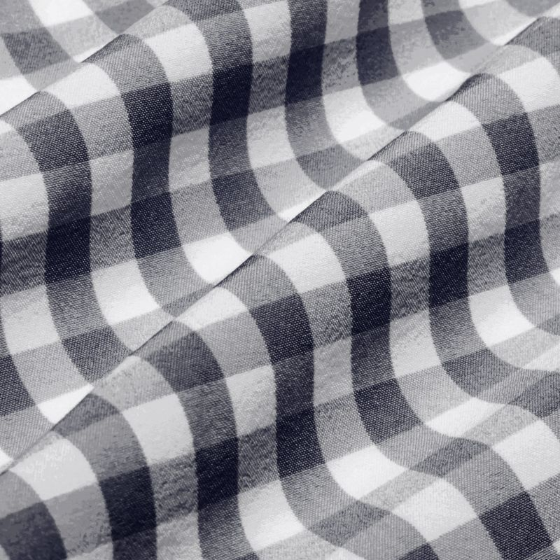 Leeward Dress Shirt - Blue Check, fabric swatch closeup
