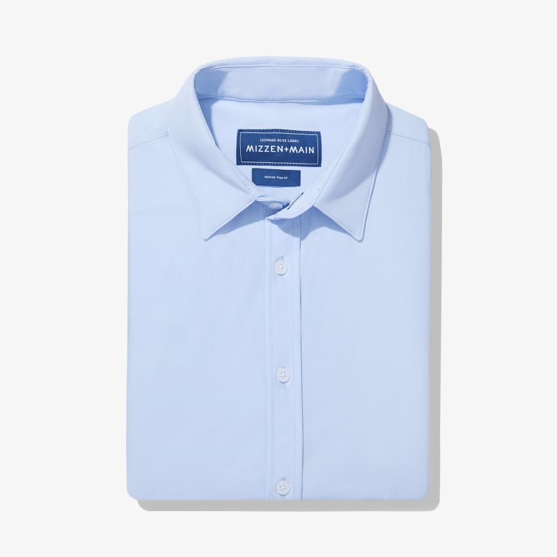Leeward Formal Dress Shirt - Light Blue Solid, featured product shot