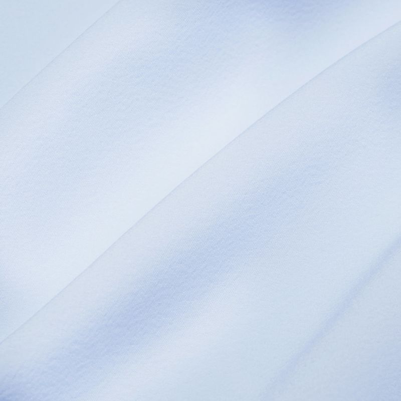 Leeward Formal Dress Shirt - Light Blue Solid, fabric swatch closeup