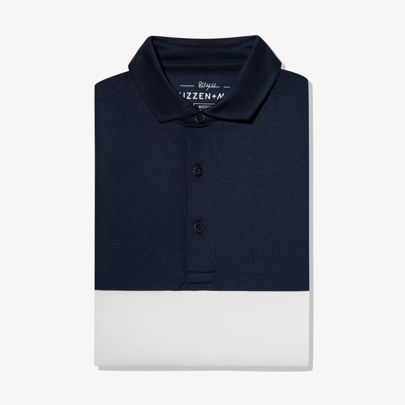 Phil Mickelson Polo - Navy White ColorBlock, featured product shot