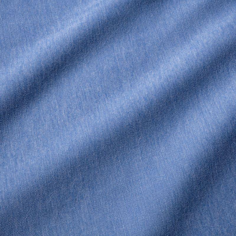Fairway Pullover - Light Blue Heather, fabric swatch closeup