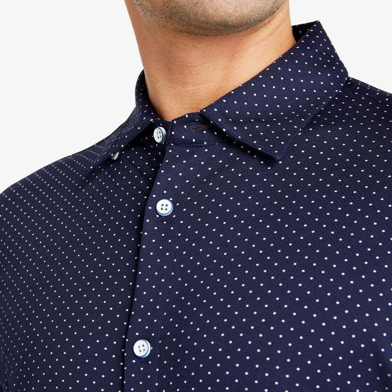 Spinnaker Short Sleeve - Navy White DotPrint, lifestyle/model