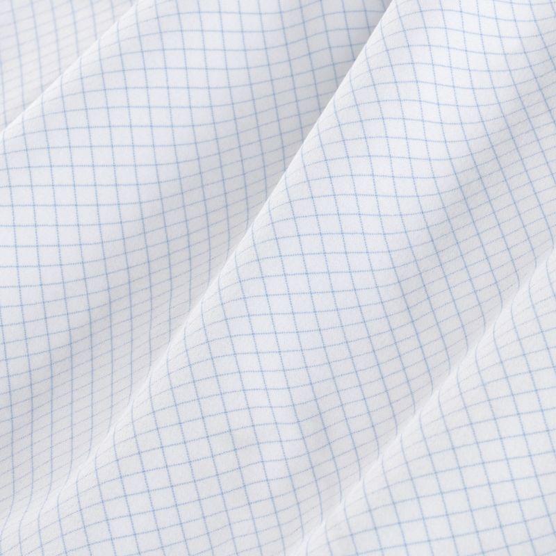 Leeward Formal Dress Shirt - Light Blue MiniCheck, fabric swatch closeup
