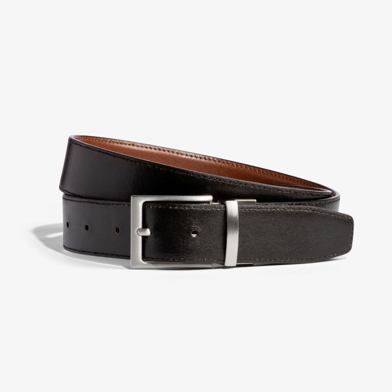 Belt - Black / Brown, fabric swatch closeup