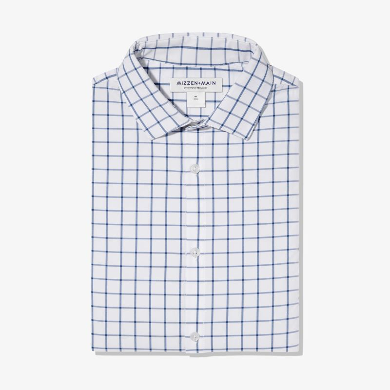 Leeward Dress Shirt - Dark Blue Windowpane, featured product shot