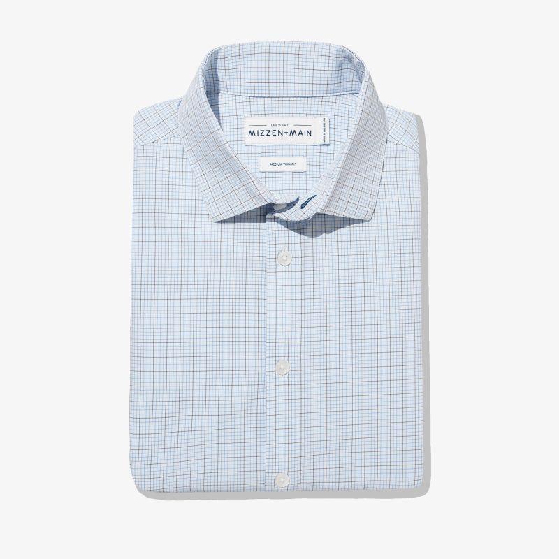 Leeward Dress Shirt - Navy Light BlueTattersall, featured product shot