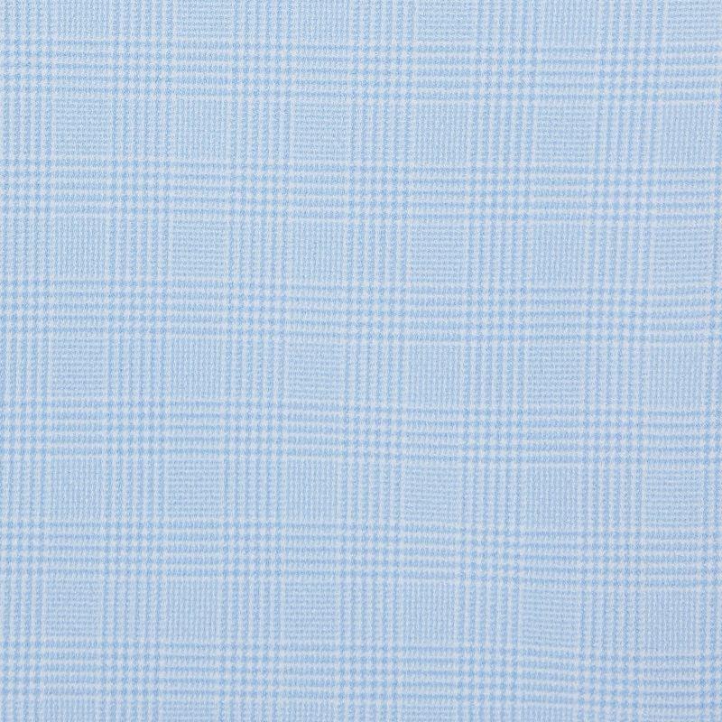 Textured Dress Shirt - Light Blue GlenPlaid, fabric swatch closeup