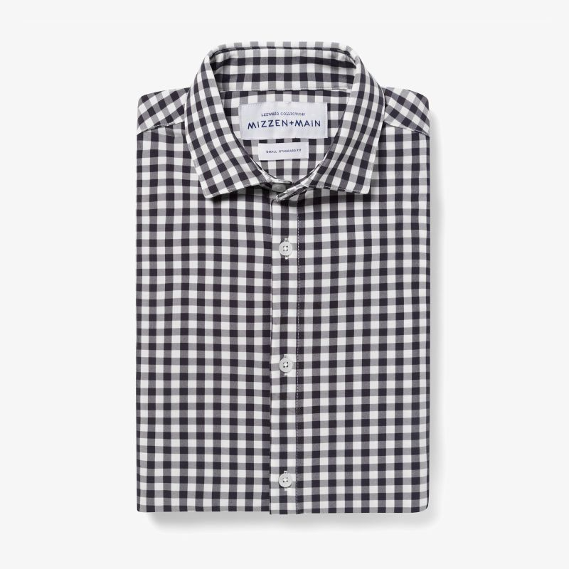 Leeward Dress Shirt - Blue Check, featured product shot