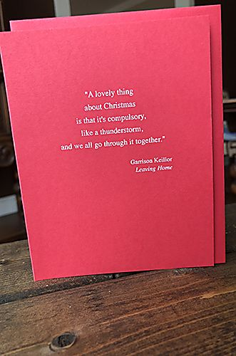 Garrison Keillor - Holiday Card