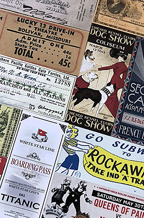 Vintage Ticket bookmarks