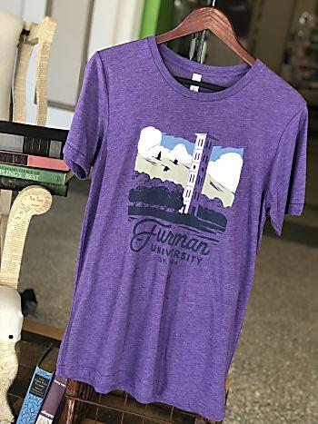 Furman Landmark Tee-Purple