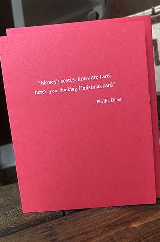 Phyllis Diller - Holiday Card