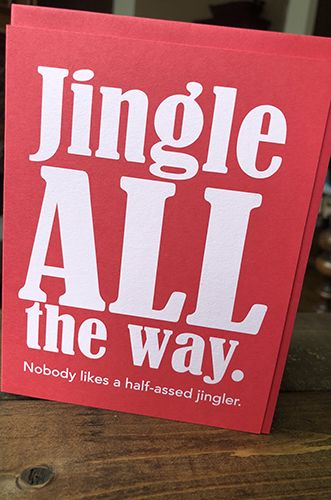 Jingle All the Way - Holiday Card