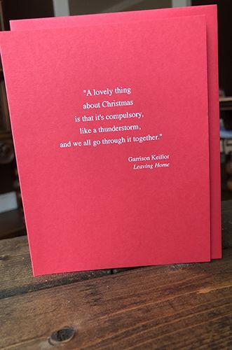 Garrison Keillor - Holiday Card
