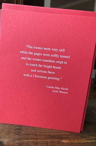 Louisa May Alcott - Holiday Card
