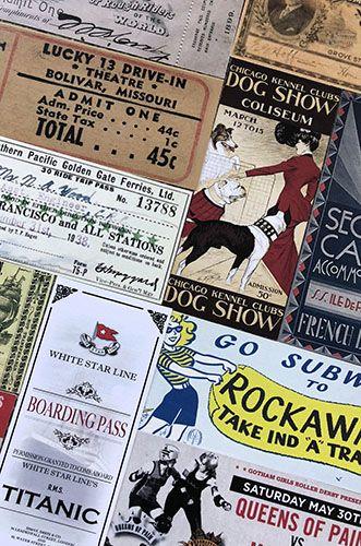 Vintage Ticket bookmarks