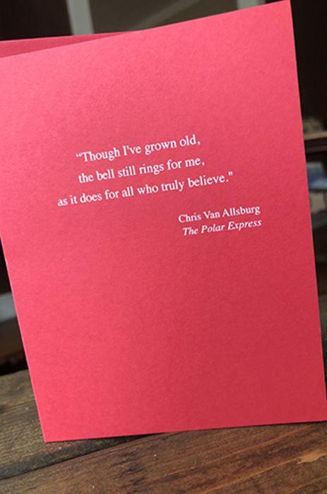 Chris Van Allsburg - Holiday Card