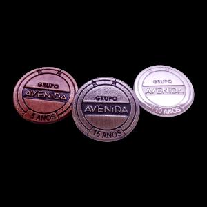 Pin realizado em parceria com o Grupo Avenida