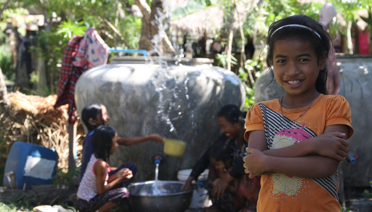 Theary thrives at school thanks to clean water in her community