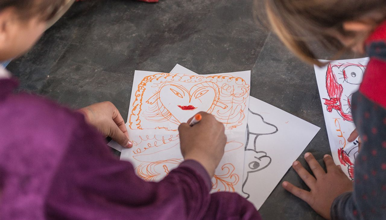 Our Child Friendly Spaces are helping children re-learn how to play