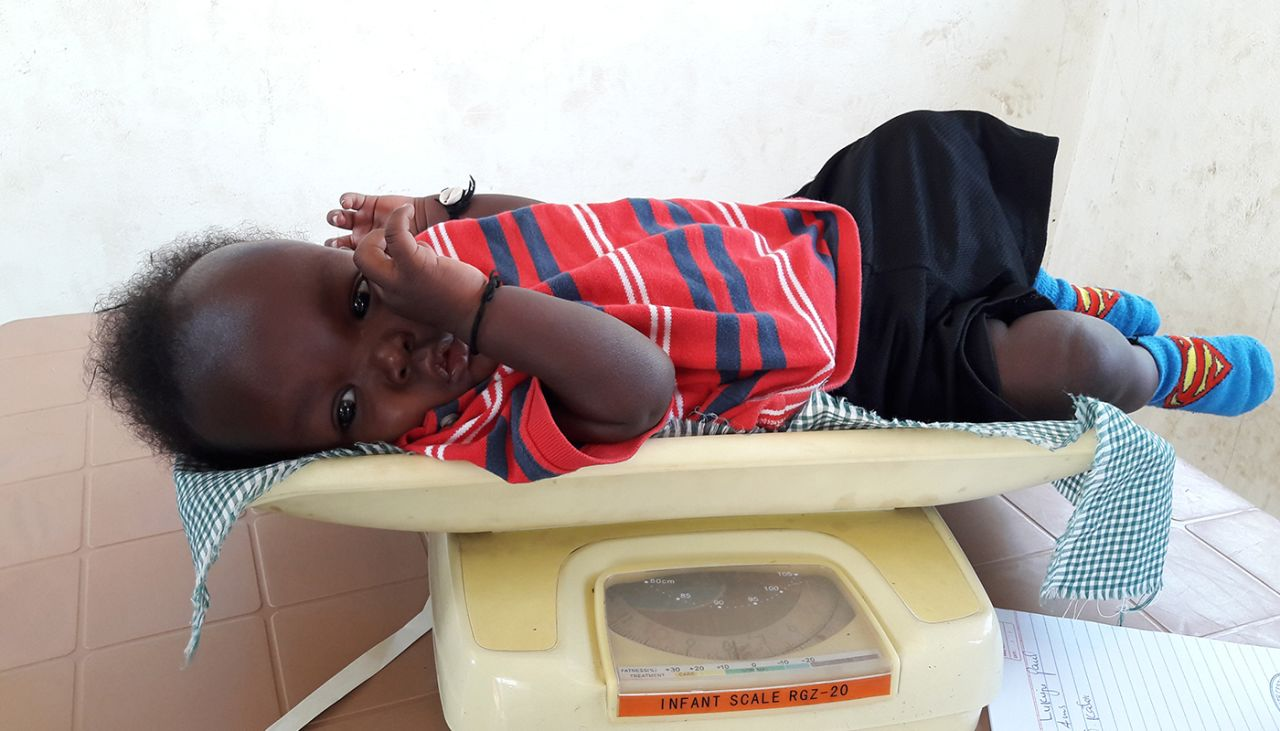 Meet Peter, a healthy baby from South Sudan