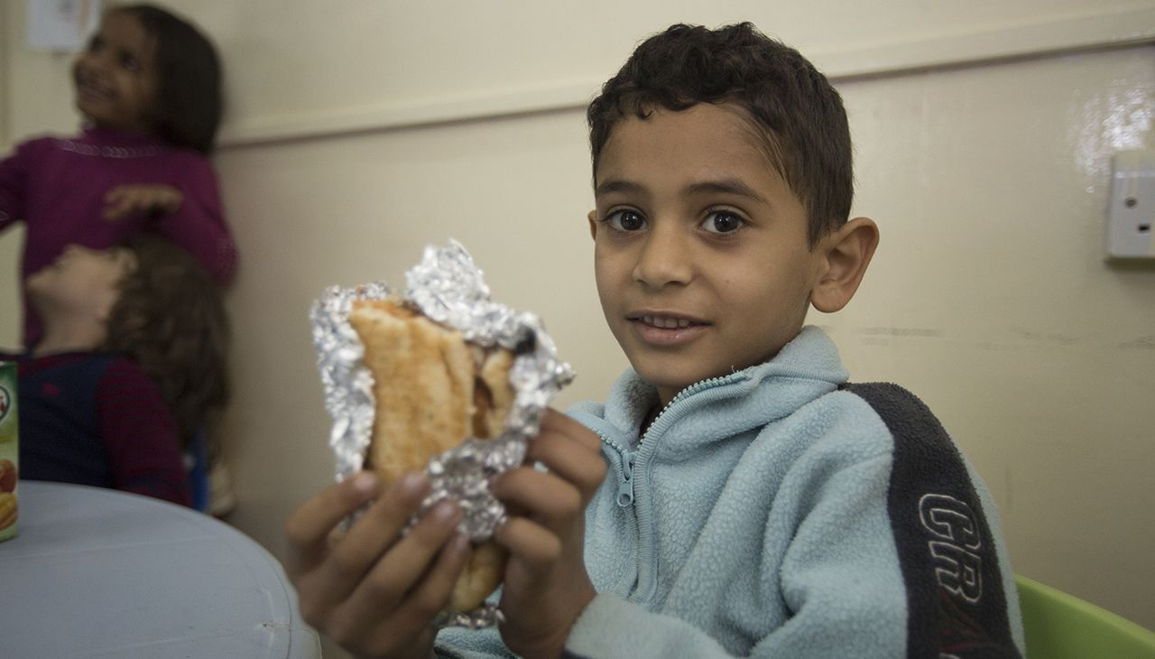 More than just a meal! Keeping children in school in Jordan refugee camps