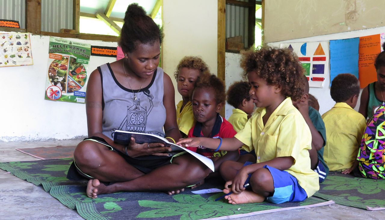 We're working to get every child in school in the Pacific</br></br>