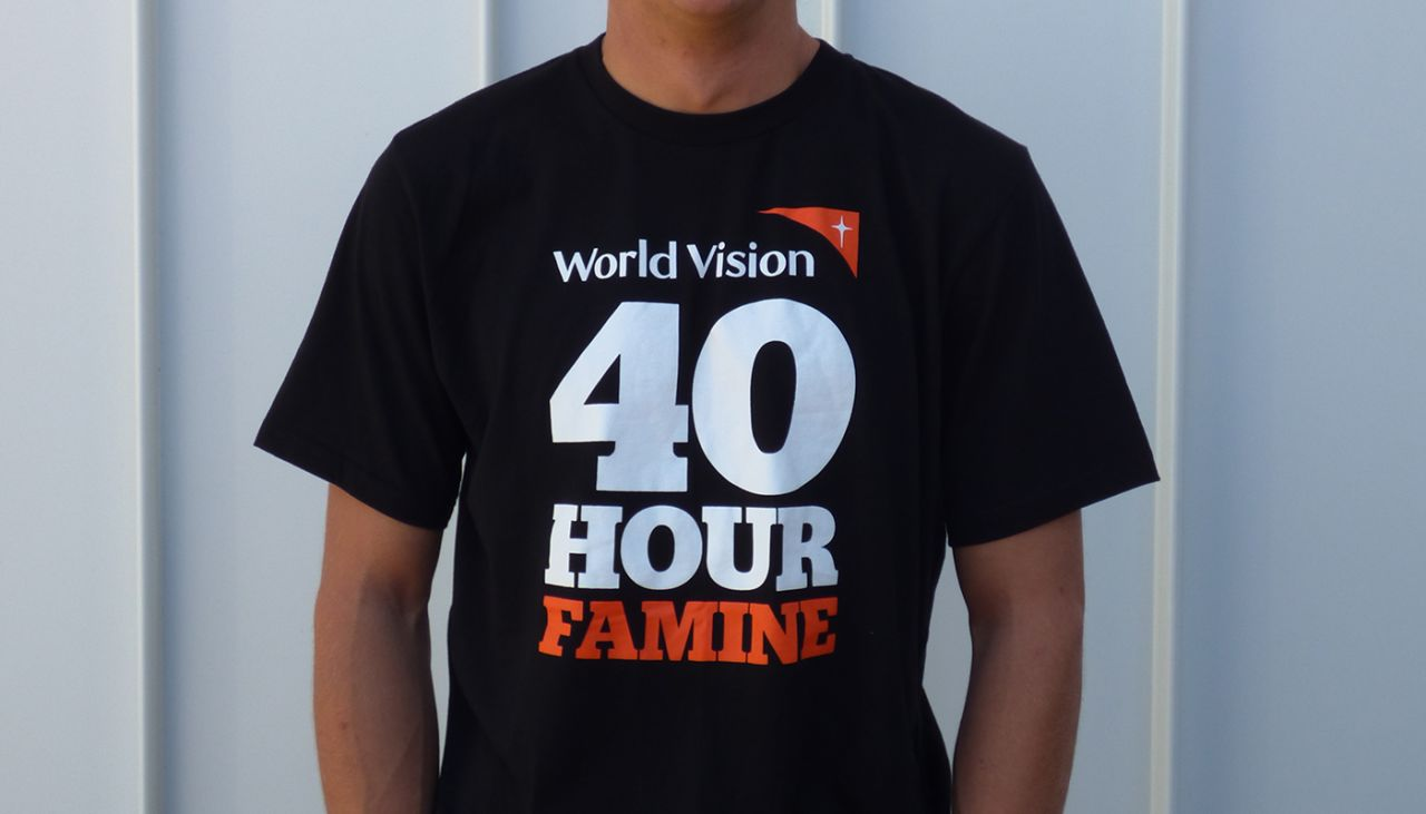 Pre-order your 40 Hour Famine tee now