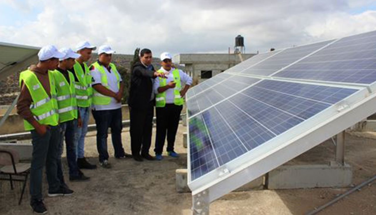 Harnessing the sun to power schools in the West Bank