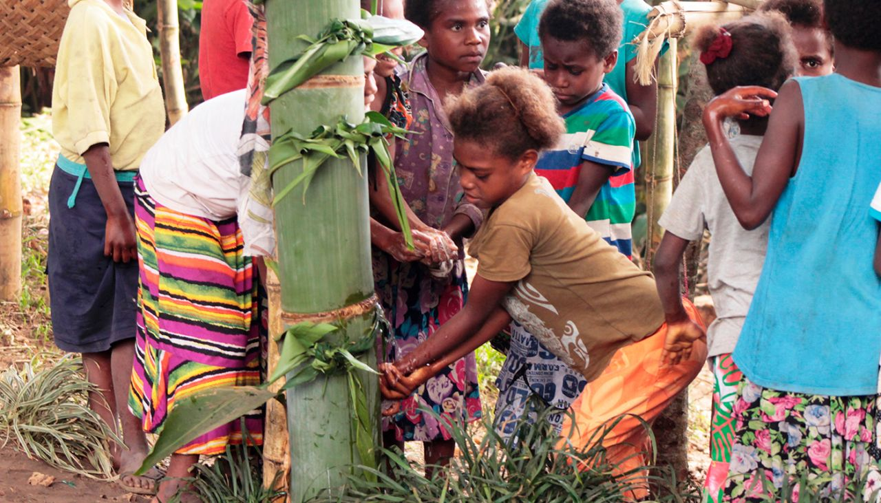 The Bamboo Tippy Tap, a Vanuatu innovation that improves children's health