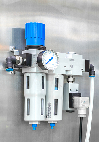 industrial air filter and lubricator
