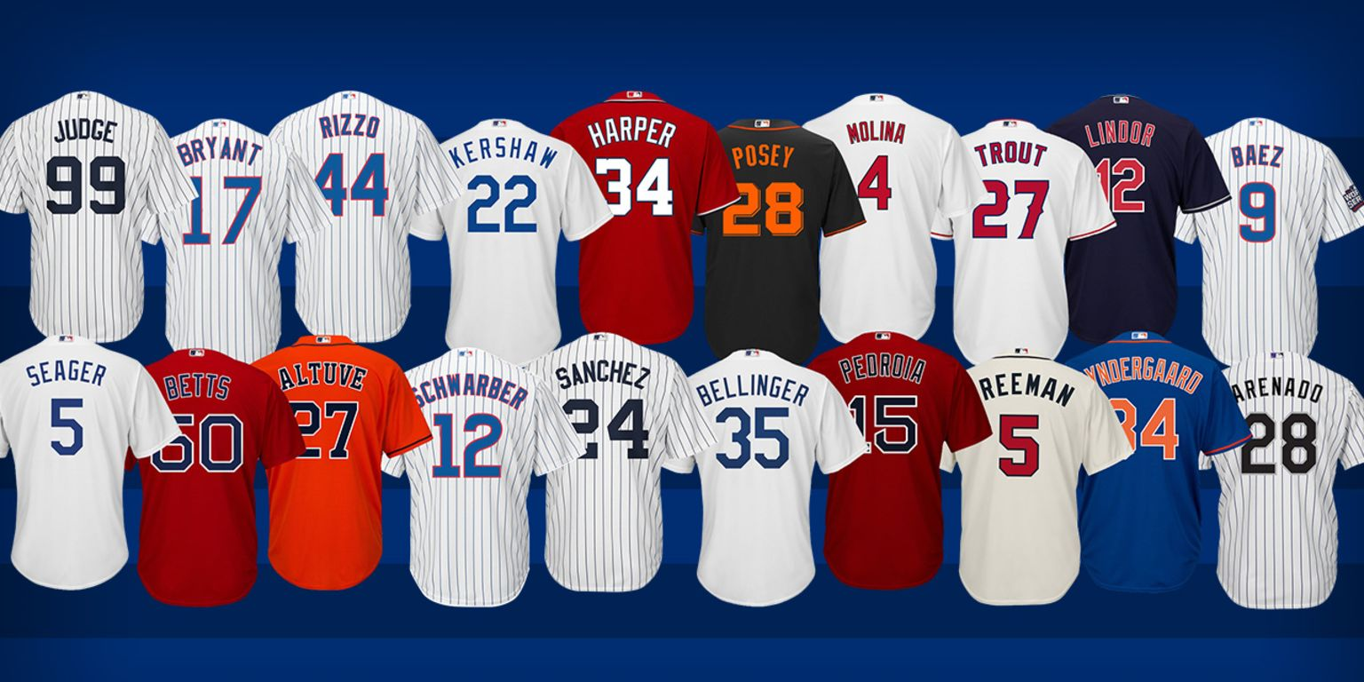 MLB most popular jerseys revealed  2e324ae444a