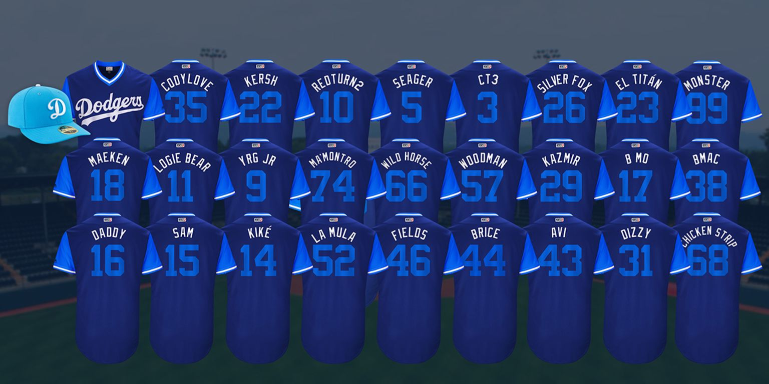 Dodgers to celebrate Players Weekend  214aafd6ff2