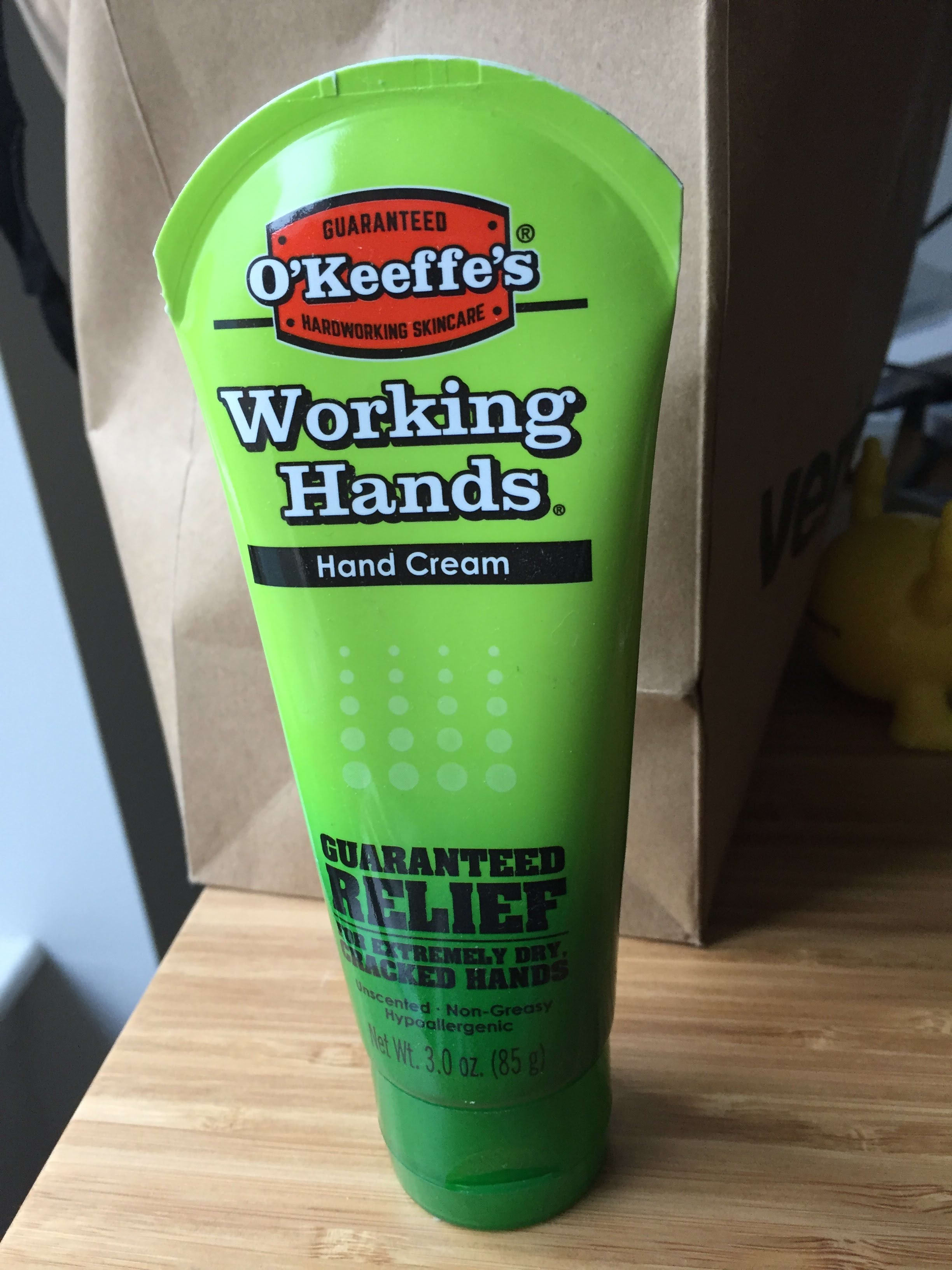 best hand lotion for eczema: o'keeffe's working hands, or vaseline