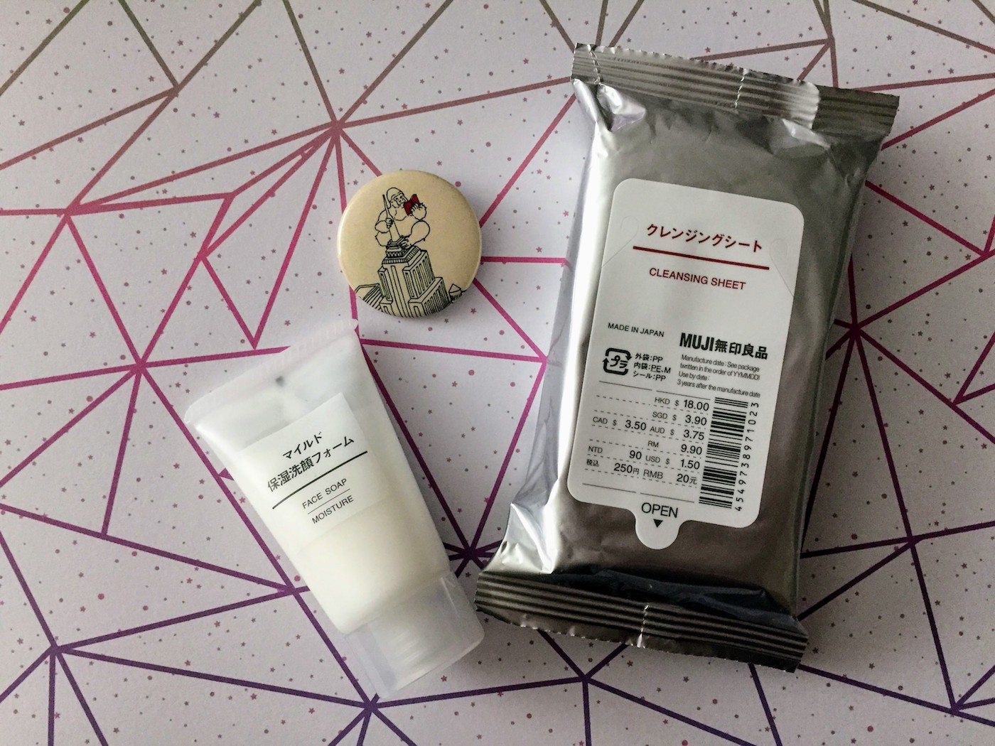 MUJI face soap review - products