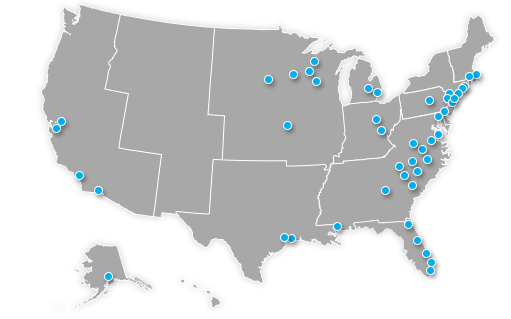 Map of MMA locations