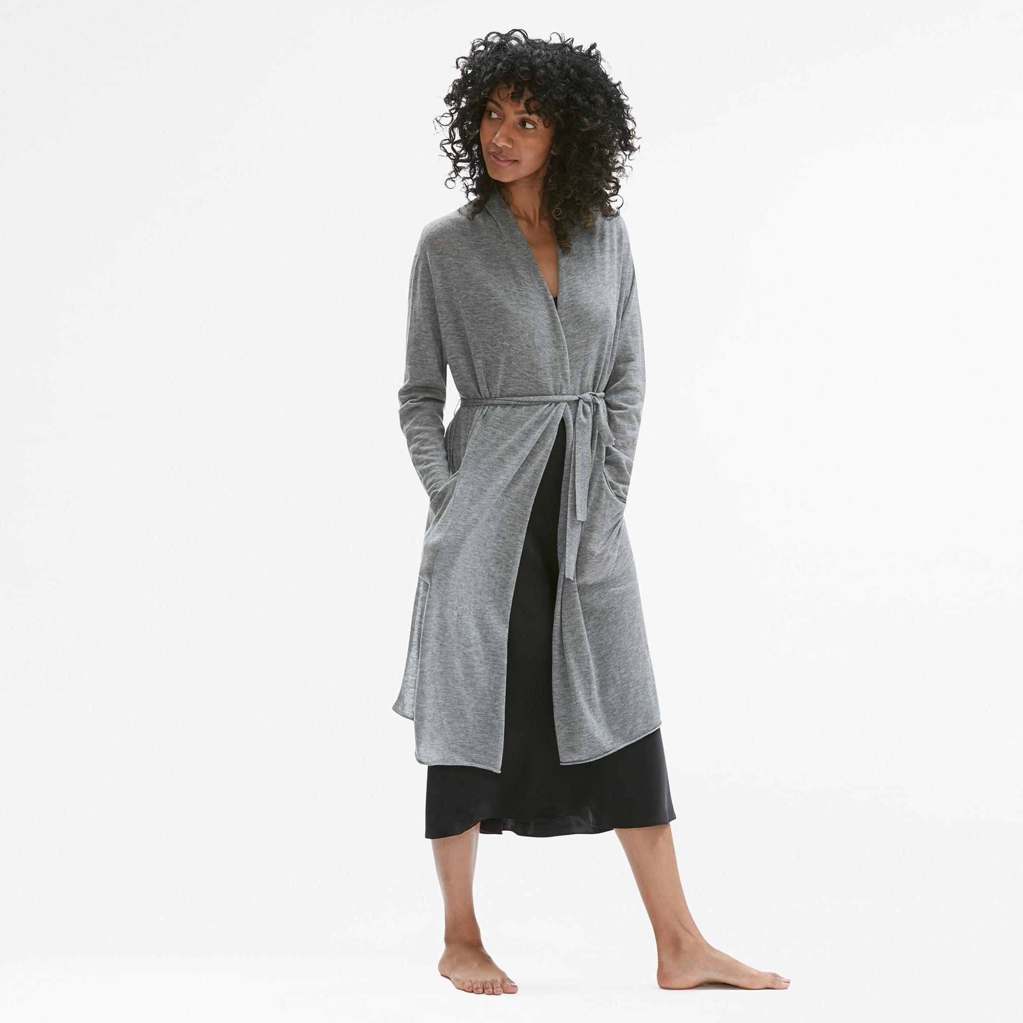 The Cashmere Robe Storm Gray M M Lafleur