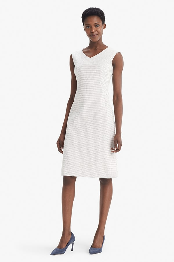 8099407925f The Evelyn Dress—Micro Jacquard