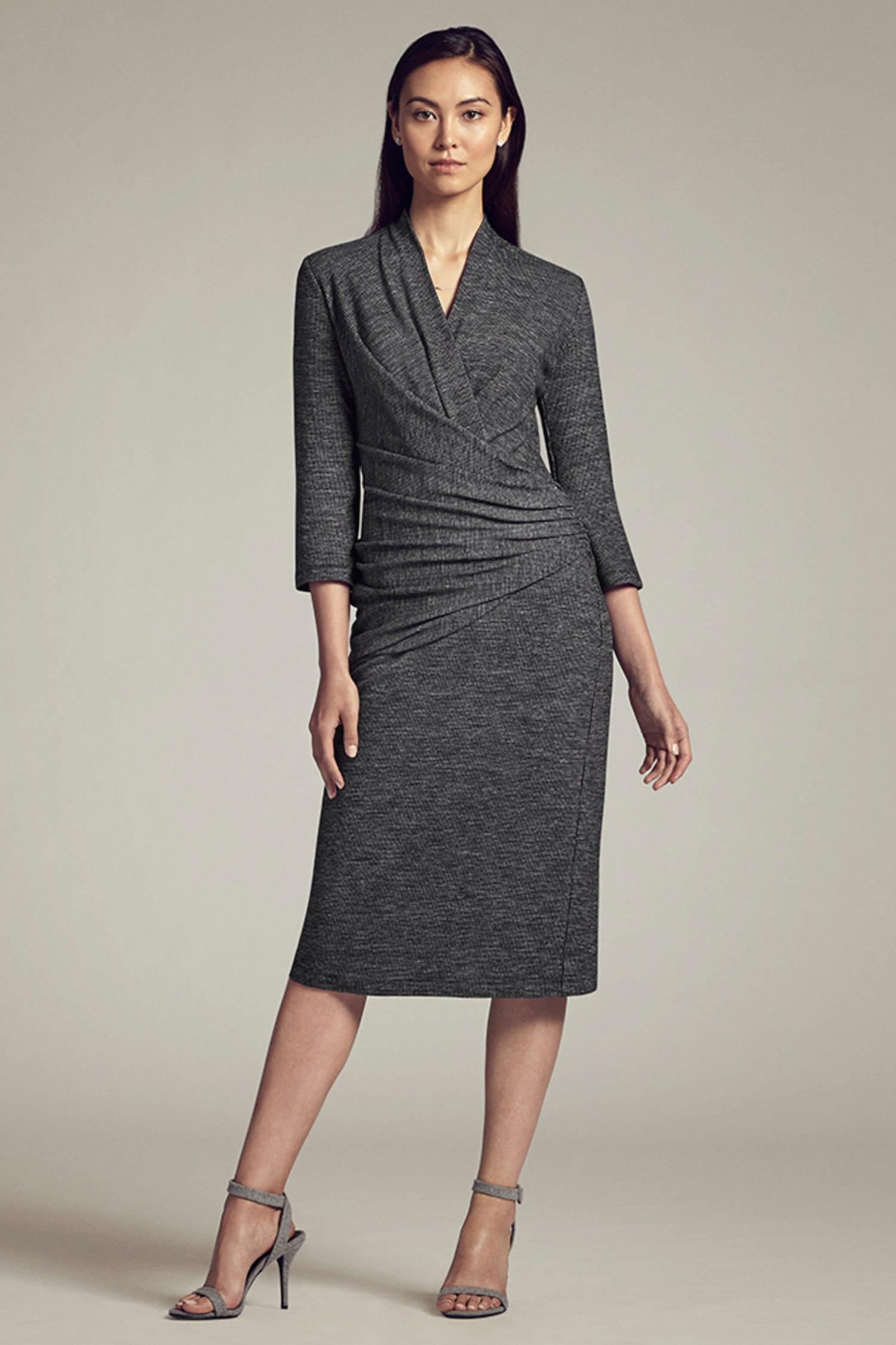 cf2e270df4a Casey Dress—Mini Houndstooth    Gray   Black 2