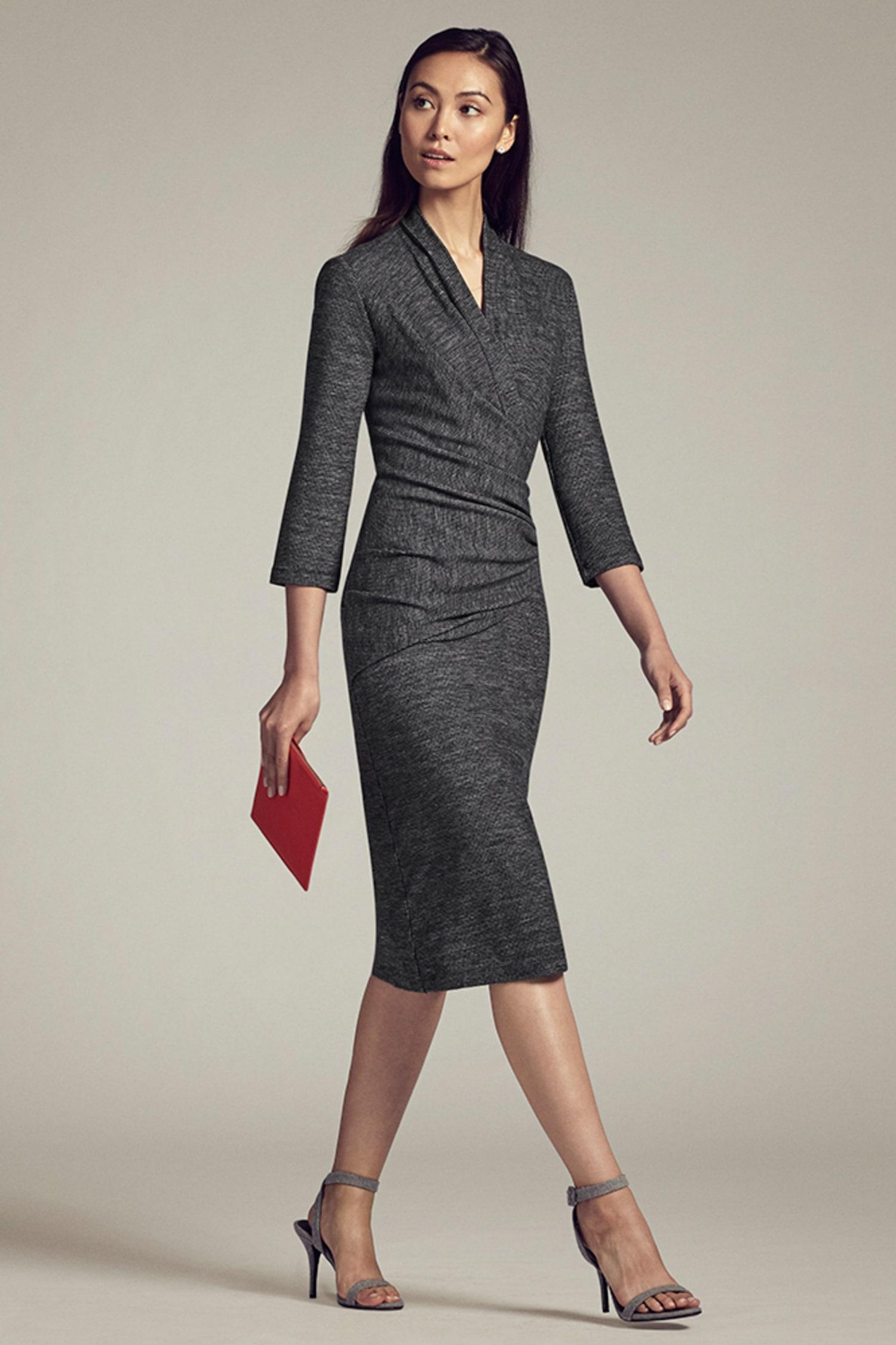 474468fc0cf Casey Dress—Mini Houndstooth    Gray   Black 1
