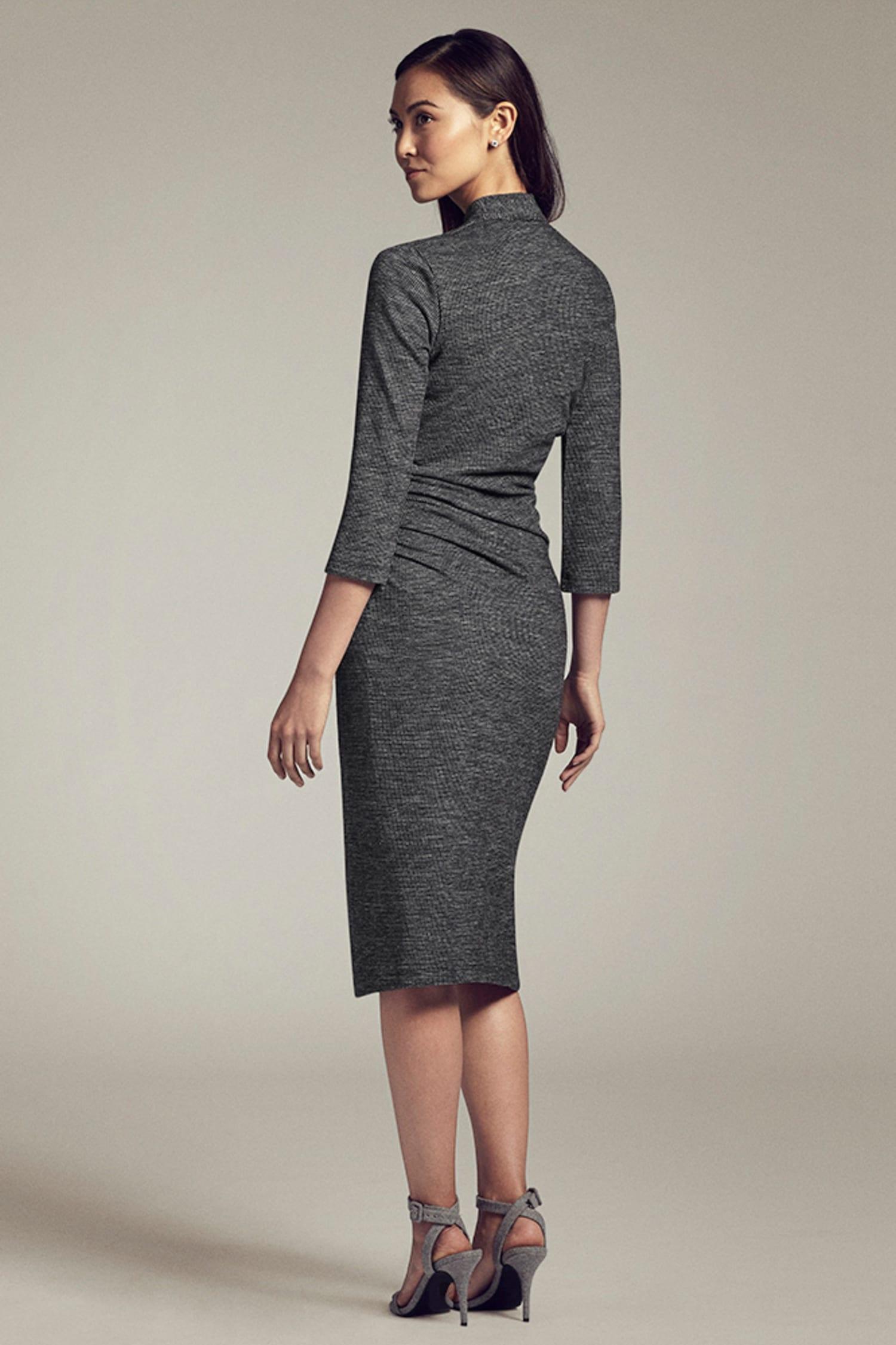 fd7f7a51ab2 Casey Dress—Mini Houndstooth    Gray   Black 4