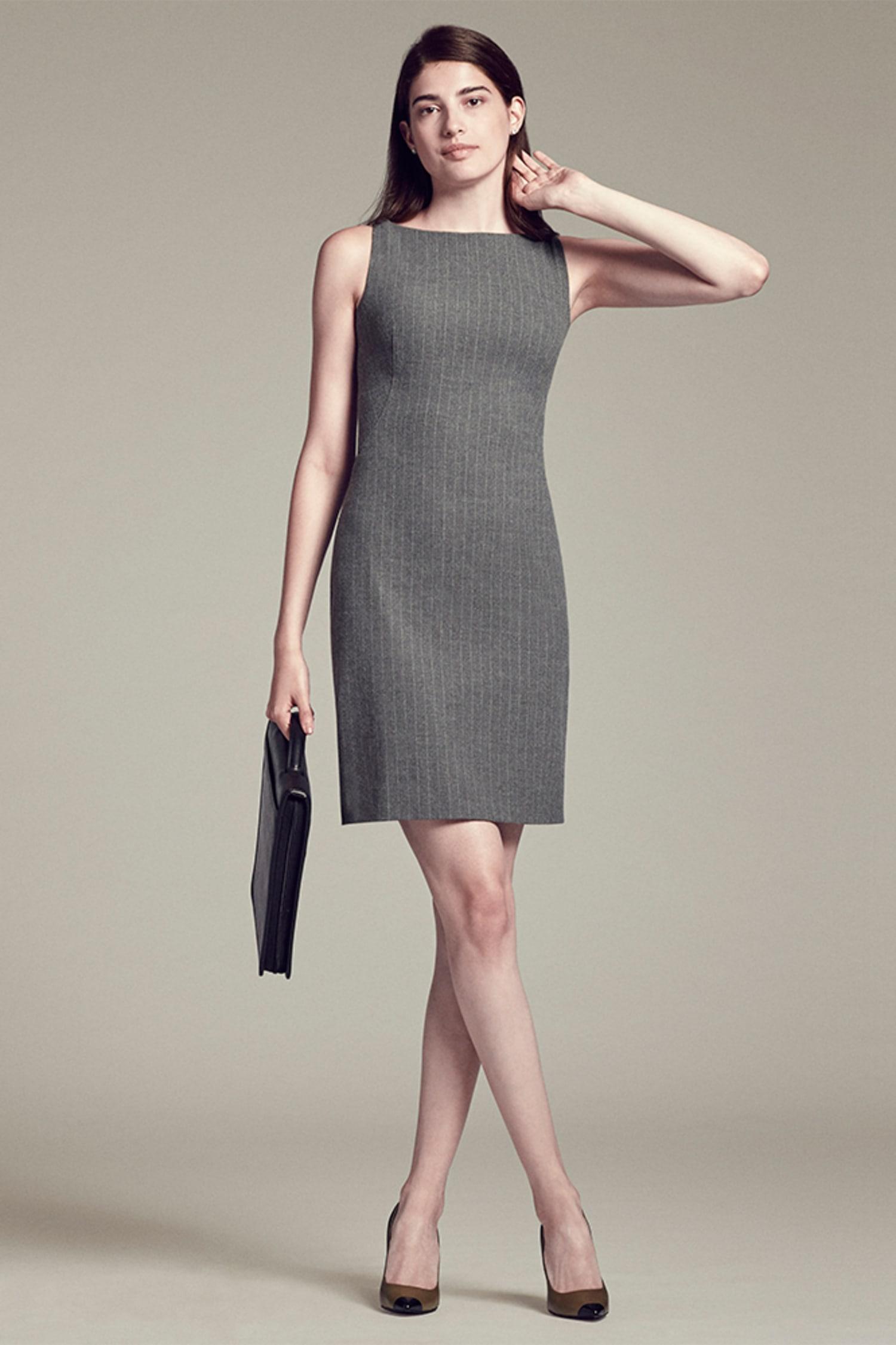 0b85c4c840c The Lydia Dress—Pinstripe